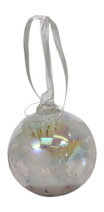 D & J Glassware Unique Handmade Serenity Decorative Glass Ball Bauble