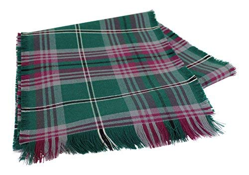Traditional Scottish Tartan 100% Wool Plain Full Fringed Sash - Gray Hunting Ancient