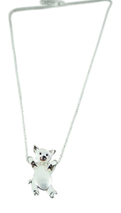 Alexander Thurlow Long Silver Pig Piglet Necklace Pendant