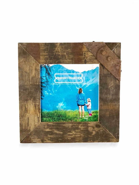 Whisky Whiskey Barrel 8 x 8 Rustic Stave Photo Picture Frame