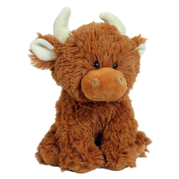 Jomanda Super Cute Mini Scottish Highland Cow Coo Soft Plush Toy