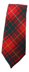100% New Wool Traditional Medium Weight Scottish Tartan Neck Tie - Red Bruce Modern