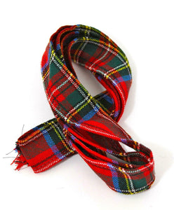 100 % Pure Wool Traditional Tartan Ribbon - 1 Inch x 54 Inches - Royal Stewart