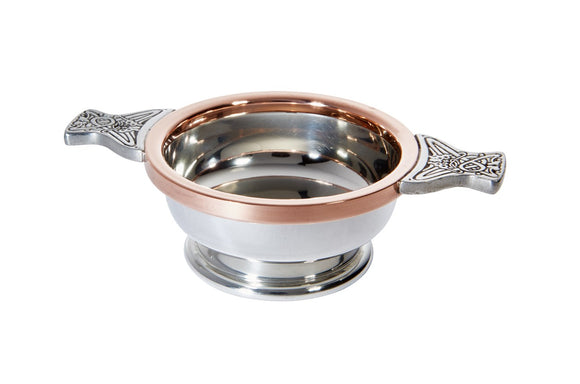 Wentworth Pewter Celtic with Copper Rim Toasting Celebration Quaich