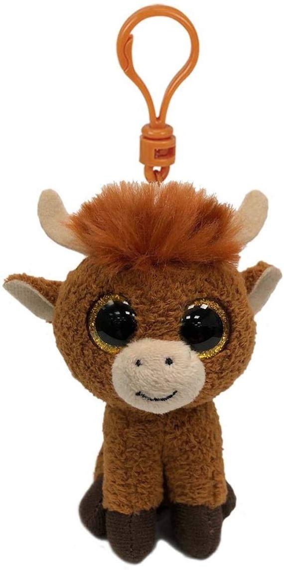 TY Beanie Boo - Angus the Highland Cow - Limited Edition Soft Plush Keyring Keychain