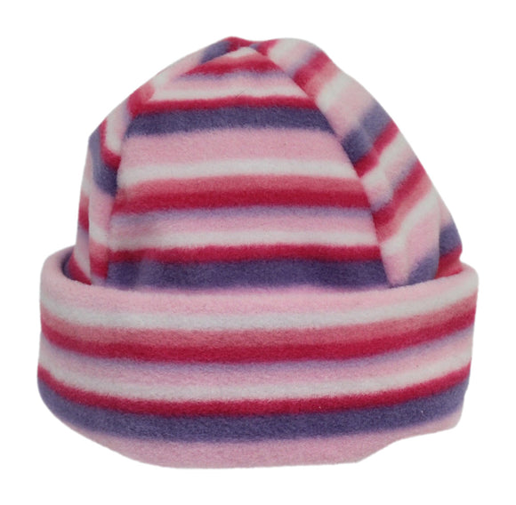 Ramblers Cosy Pink & Purple Stripe Child's Sherpa Fleece Hat