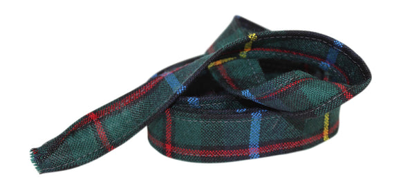 100% Pure Wool Traditional Tartan Ribbon - 1 Inch x 54 Inches - Smith Modern