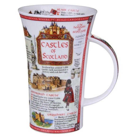 Informative Dunoon Castles of Scotland Fine Bone China Mug Glencoe Style