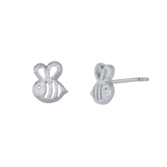 Christin Ranger Sterling Silver Bumble Bee Stud Earrings