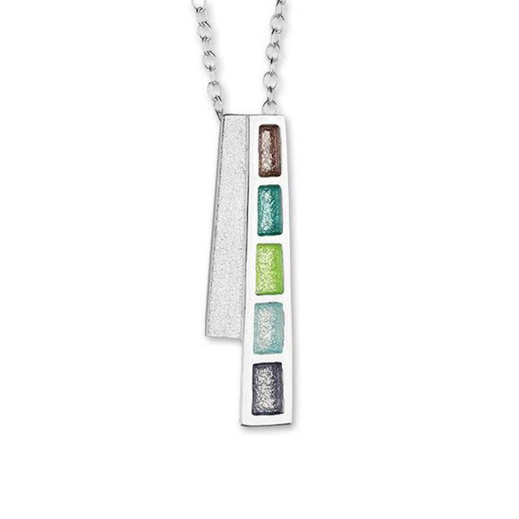 Ortak Scotland 'Indulge' Multi Colour Sterling Silver Necklace Pendant