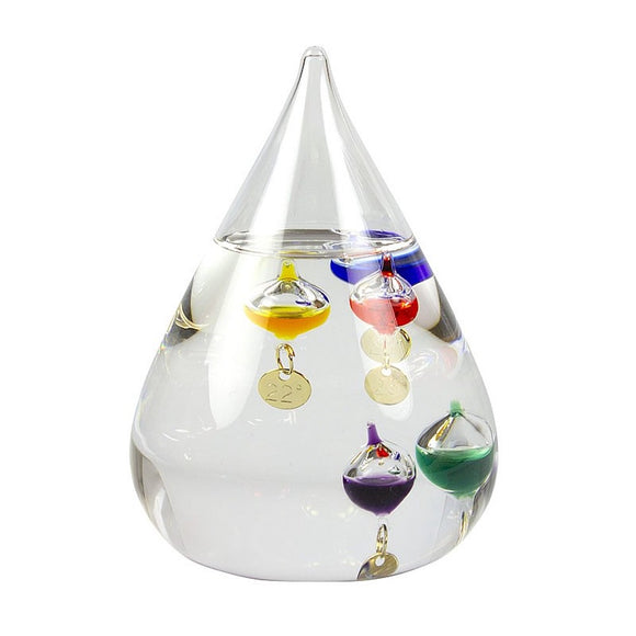 Nauticalia 5 Multi Colour Tear Drop Mini Globe Galileo Thermometer