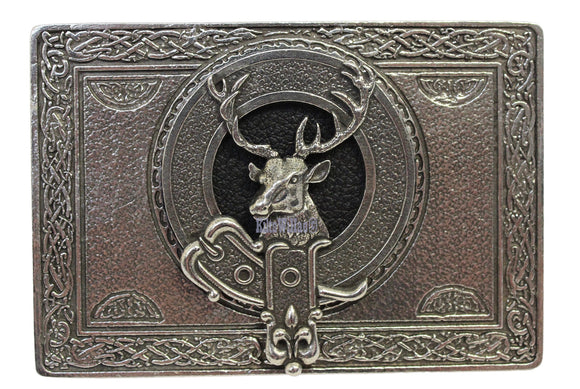 Gaelic Themes Celtic Highland Stag Buckle Detail Kilt Belt Buckle