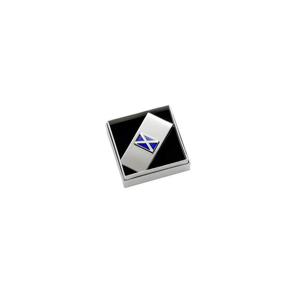 Onyx Art London Blue Scottish Saltire Flag Boxed Money Clip