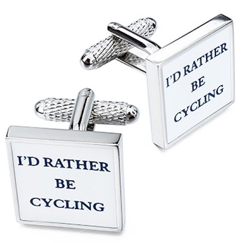 Onyx Art London 'I'd Rather Be Cycling' Bike Bicycle Mens T-Bar Cufflinks