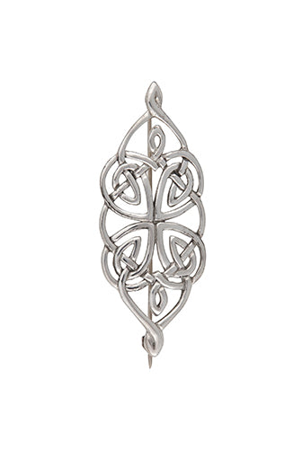 Stunning Pewter Dunfallandy Celtic Knot Brooch Pin
