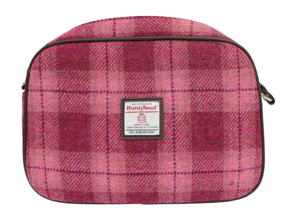 Glen Appin Of Scotland Harris Tweed Avon Salmon Pink Over Shoulder Handbag Purse