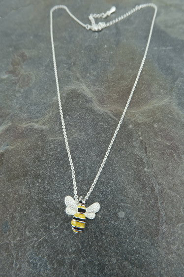 Alexander Thurlow Buzzy Bumble Bee Necklace Pendant