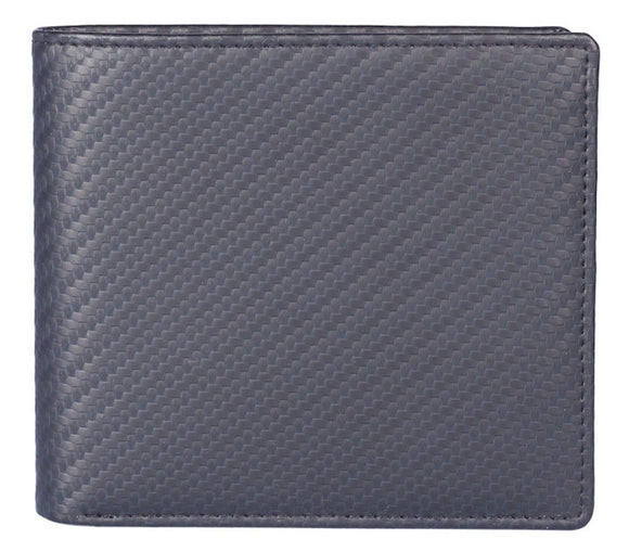 Kalmin Leather Carbon Fibre Effect Classic Wallet with RFID Protection