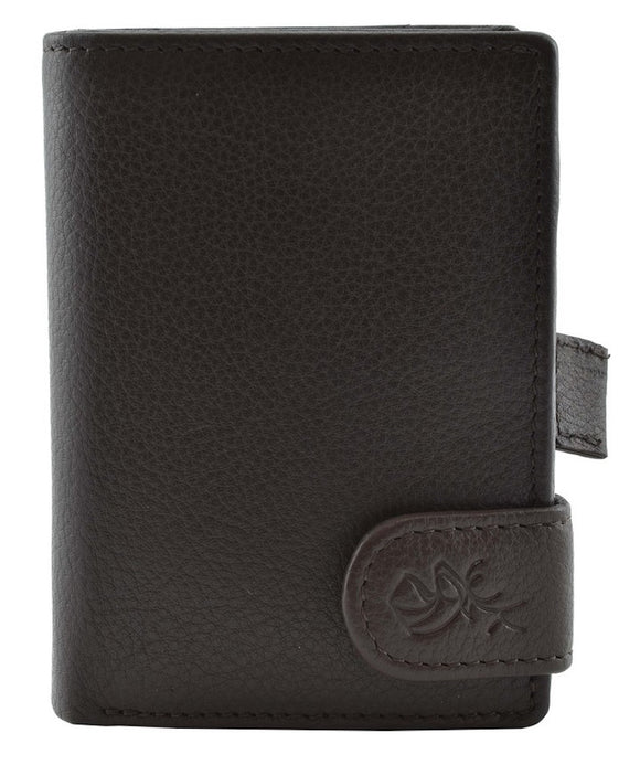 Kalmin Leather Kensington Metal Sleeve Wallet with Note Section RFID