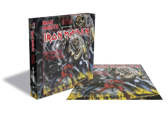 Plastic Head Music Distribution Iron Maiden The Number Of The Beast Record Album Cover 500 Piece Jigsaw Puzzle