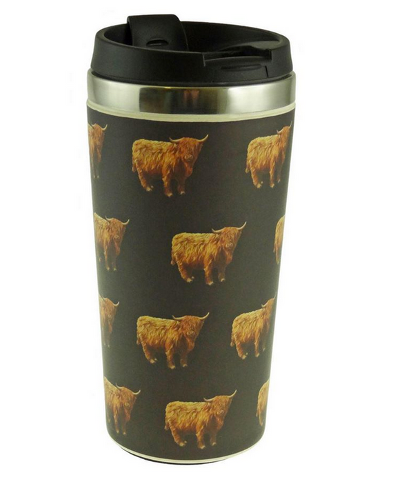 Glen Appin Of Scotland Scottish Highland Cow Coo Eco-Friendly Reusable Coffee Cup Mug