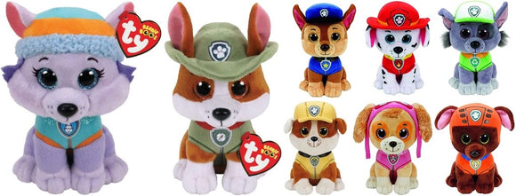 TY Official Paw Patrol Marshall Chase Skye Rocky Everest Ty Beanie Plush Soft Toy