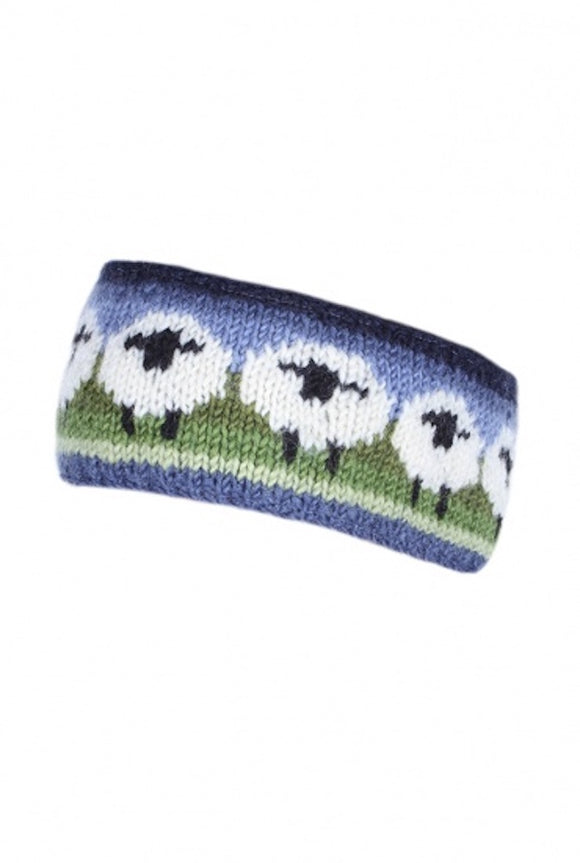 Sustainable Fair Trade Flock of Sheep Natural Wool Headband