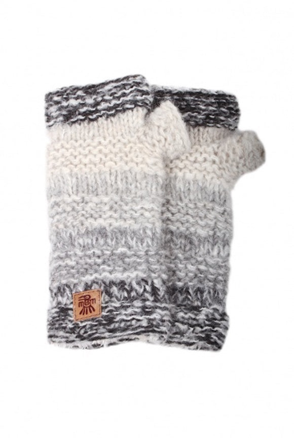 Sustainable Fair Trade Sierra Nevada Smoke Grey Natural Wool Handwarmers