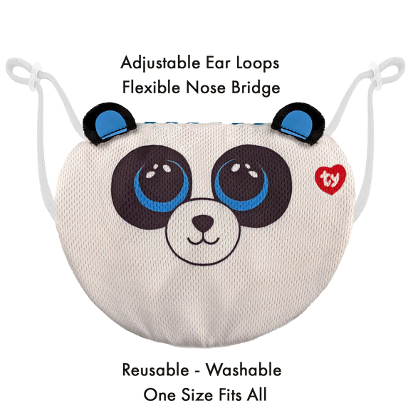 TY Beanie Boo Chidrens Face Mask - Bamboo the Panda
