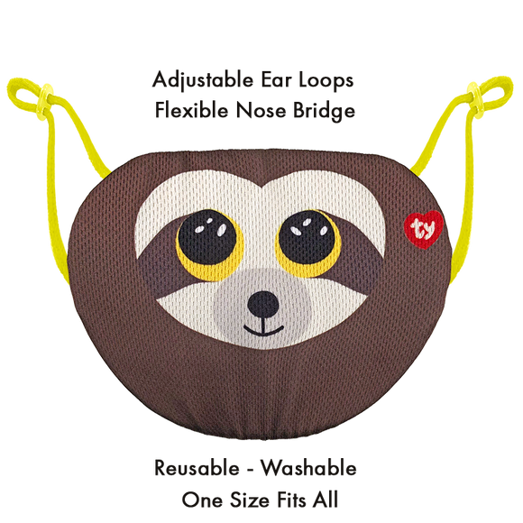 TY Beanie Boo Chidrens Face Mask - Dangler the Sloth