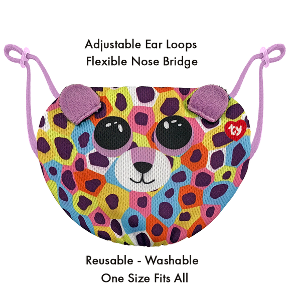 TY Beanie Boo Chidrens Face Mask - Giselle The Leopard