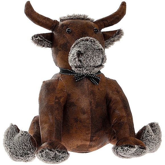 Super Cute Antique Finish Highland Cow Coo Bull Doorstop