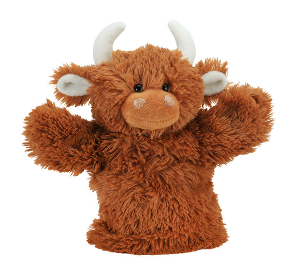 Jomanda Scottish Highland Cow Coo Super Soft Hand Puppet