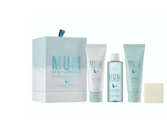 Scottish Soap Mum To Be - Shea Pamper Set with Body Wash, Tummy Butter, Bath Soak And Cleansing Bar