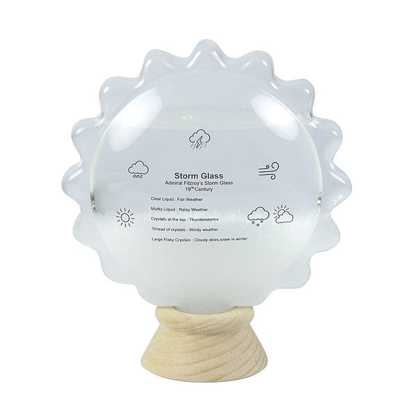 Nauticalia Sun Shaped Storm Cloud Bottle Weather Station Set
