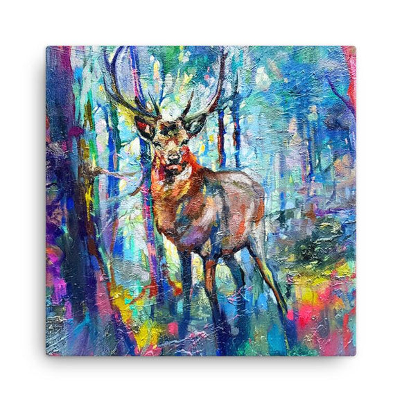 Wraptious Sue Gardner Colourful Mystic Highland Stag Mini Canvas