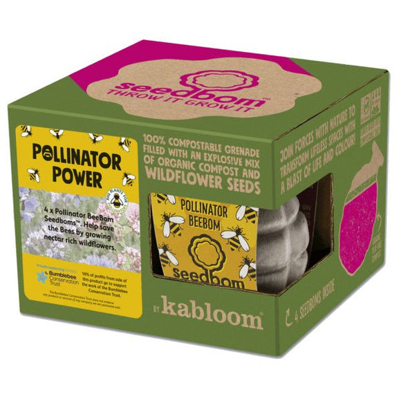 Kabloom Guerrilla Gardening Seed Bomb Polinator Power Gift Pack of Four