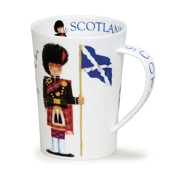 Lovely Dunoon Scotland On Guard Kilted Scottish Guard Fine Bone China Mug Argyll Style