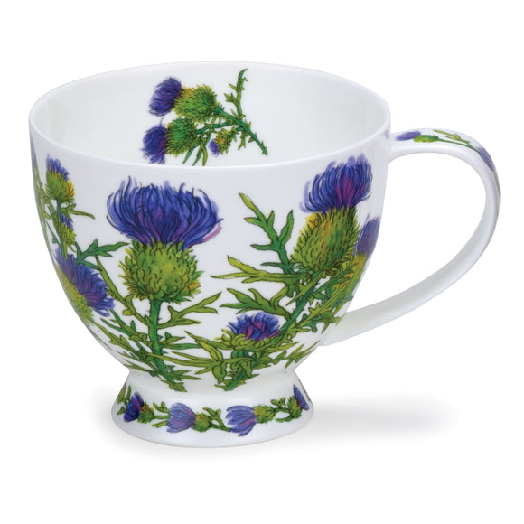 Dunoon Ceramics Pretty Scottish Thistle Large Skye Style Mug Cup