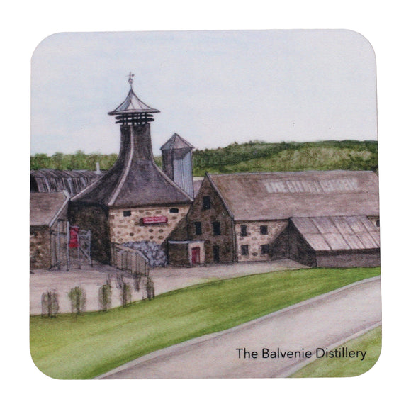 Kimberly Art Hand Painted Watercolour Scottish Distillery Coaster - The Balvenie
