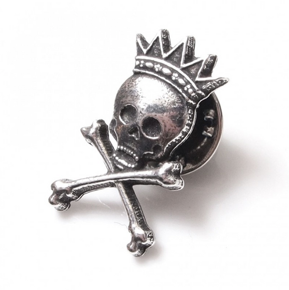 Stunning Scottish Pewter Clutch Pin - King Death