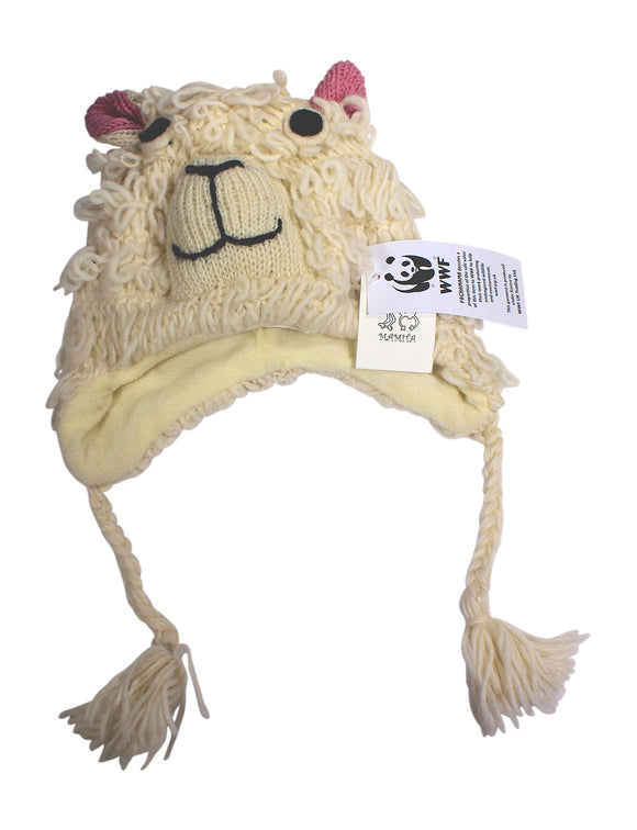 Sustainable Fair Trade Kids Sheep Wool Chullo Hat