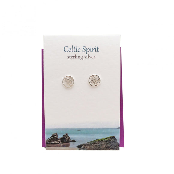 The Silver Studio Scotland Celtic Spirit Celtic Knot Sterling Silver Stud Earrings Card & Gift Set