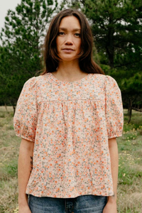 Posey Peach Blouse