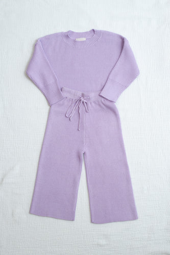 Mini Alex Knit Set / periwinkle