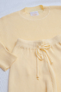 Mini Alex Knit Set / lemon