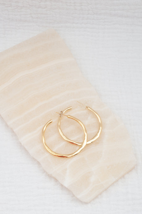 Smushed Hoops / gold large