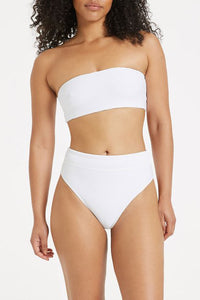 Signature High Waisted Brief / white
