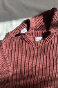 Chunky Knit Pullover / mulberry