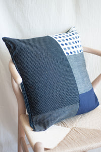 Patchwork Indigo Pillow Case / 1